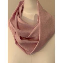 Snood 100 % soie façonnée rose