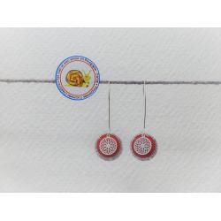 Boucles d'oreilles paillettées argent