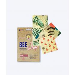 Lot de 3 bee wrap Tropical (SML)