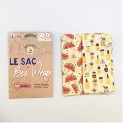 Lot de 2 sacs Bee wrap S et M