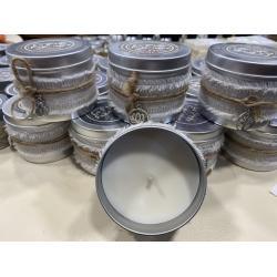 Bougie pot alu décoré 160 gr