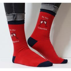 "Chaussettes ""be my Valentine"""