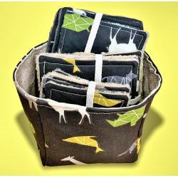Vide-poche et ses 15 lingettes animaux