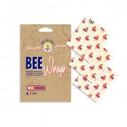 Lot de 3 bee wrap Tropical (S)