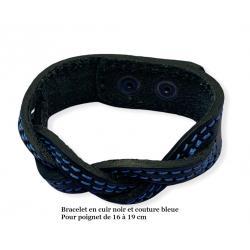 Bracelets en cuir tressé
